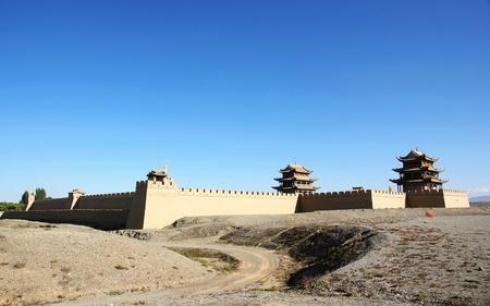 フォート嘉峪関で中国古代ゲート タワー