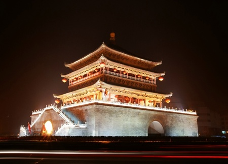 Ancient city gate tower in xi
