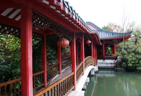 Chinese gallery bridge photo