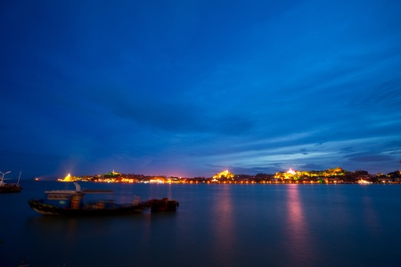 Gulangyu island night scape in xiamen of china