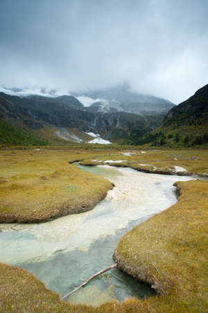 Plateau river  in sichuan of china