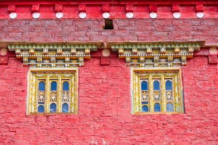 Windows of tibetan temple Stock Photo - 11128001