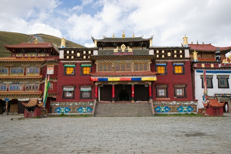 Tibetan temple.sichuan,china Stock Photo - 11116976