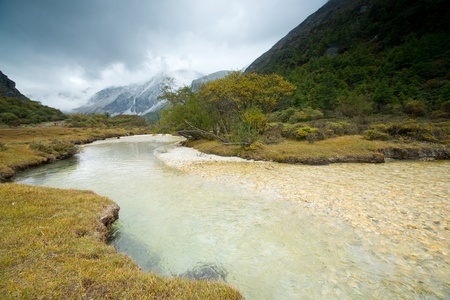 Plateau river  in sichuan of china Stock Photo - 11230782