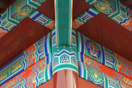 detail of chinese classical building photo