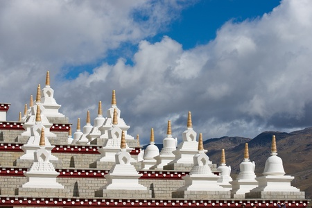 Tibetan white Pagodas photo