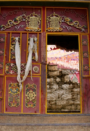 Gate of tibeten temple photo