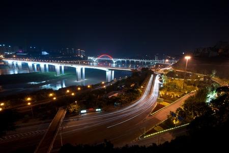 Night view of city,chongqing,china