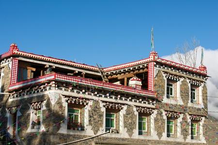 tibetan house: Tibetan house closeup