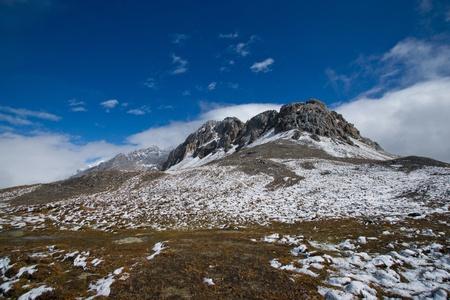jokul: Snow mountain with blue sky,sichuan,china