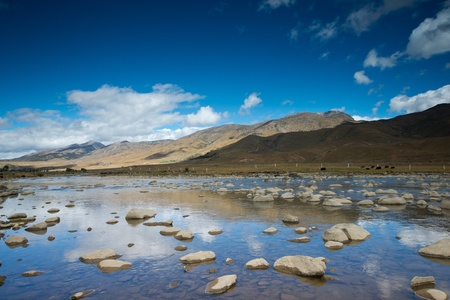 Plateau scenery,daocheng,china Stok Fotoğraf