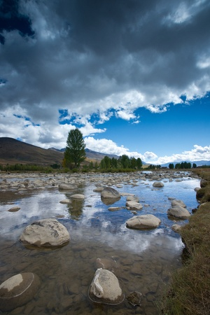 Plateau scenery,daocheng,china Stock Photo