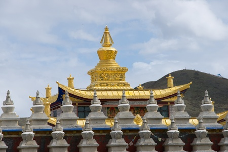 Golden roof of temple photo