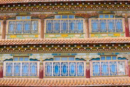Windows of tibetan temple