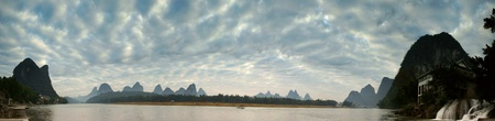 Li river landscape in morning photo