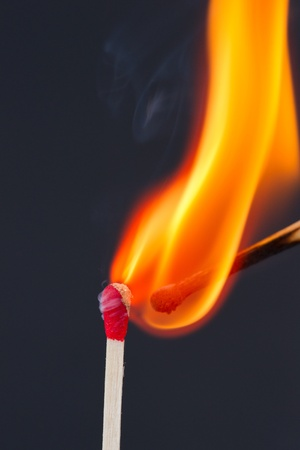 Matches igniting photo