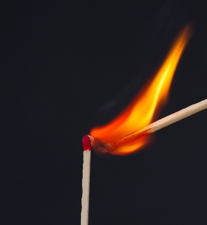 combust: Matches igniting