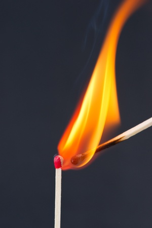 igniting: Matches igniting