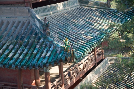 Chinese Temple Roof Detail
