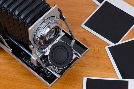 Camera with empty pictures photo
