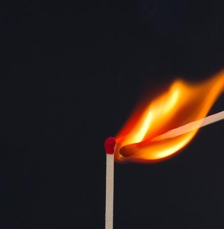 マッチに火をつける 写真素材