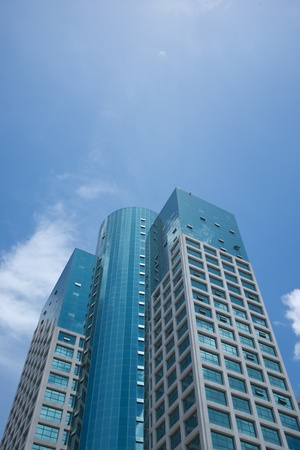High-rise buildings with blue sky photo