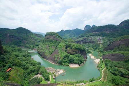 Wuyi mountain landscape