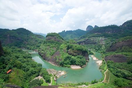 Wuyi mountain landscape Stok Fotoğraf - 12057740