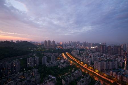 City night scene,chongqing,china photo