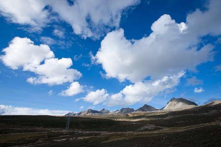 jokul: Mountain with blue sky