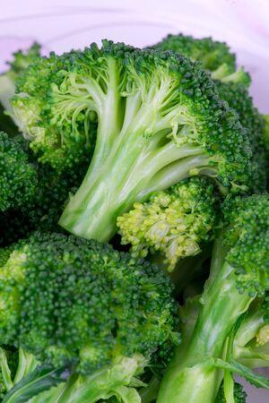 Cooked green cauliflower close up photo