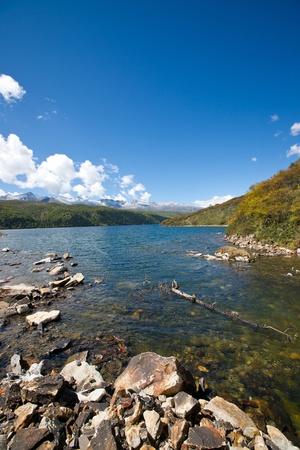 lake in plateau,sichuan,china photo