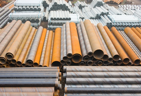 steel pipes Stock Photo - 12214170