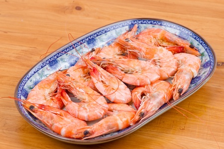 Cooked shrimp photo