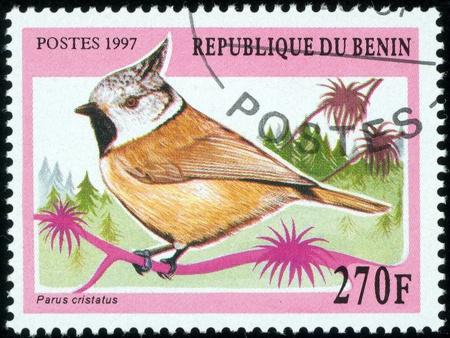 BENIN - CIRCA 1997  stamp printed by Benin, shows bird, circa 1997