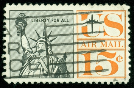 UNITED STATES - CIRCA 1959  A postage stamp of the printed in the United States, shows Statue of Liberty, circa 1959