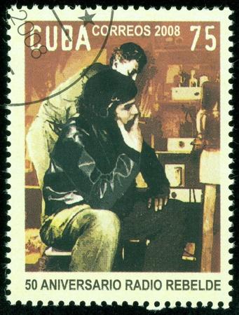 castro: CUBA - CIRCA 2008   Stamp printed in Cuba, Castro, Circa 2008