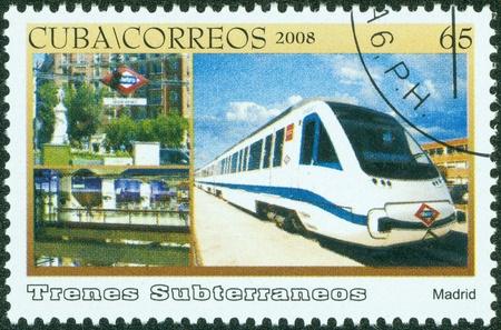 CUBA - CIRCA 2008  A Stamp printed in CUBA shows image of train, circa 2008
