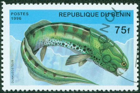 BENIN - CIRCA 1996  A stamp printed in BENIN shows fish, circa 1996 photo