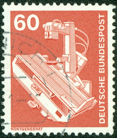 GERMANY-CIRCA 1978 A stamp printed in Germany shows image of X-ray generator is a device used to generate X-rays, circa 1978  photo