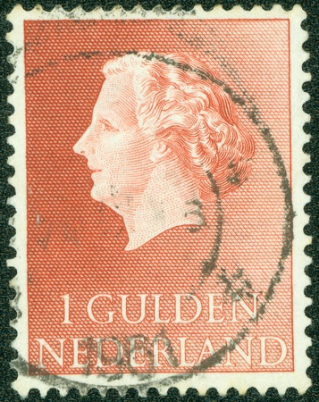 regnant: NETHERLANDS - CIRCA 1971  A stamp printed in the Netherlands, shows Juliana of the Netherlands, circa 1971 Stock Photo