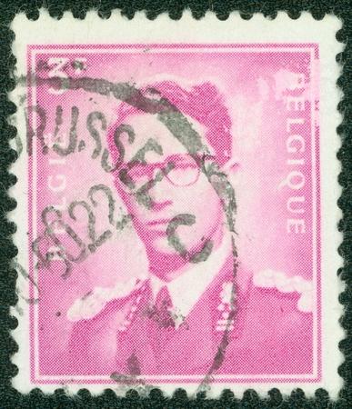 belgie: BELGIUM-CIRCA 1965 A stamp printed in Belgium shows image of a leader man, circa 1965