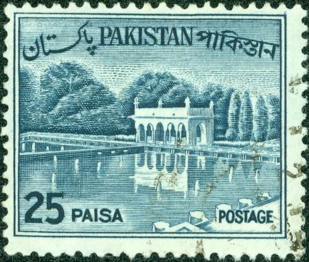 PAKISTAN-CIRCA 1970 A stamp printed in Pakistan shows image of the Architecture Pakistan, circa 1970  Stock Photo - 14137934
