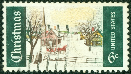 USA - CIRCA 1969  A stamp printed in USA shows Christmas  circa 1969