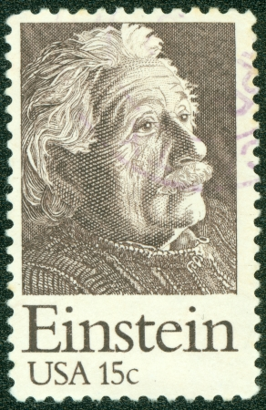 UNITED STATES CIRCA 1979  a postage stamp printed in USA showing an image of Albert Einstein, circa 1979