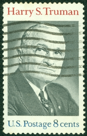 USA - CIRCA 1973   A stamp printed in USA shows Harry S Truman Portrait, circa 1973