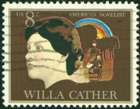 UNITED STATES - CIRCA 1973  stamp printed by United states, shows Willa Cather, circa 1973 Stock Photo - 14242616