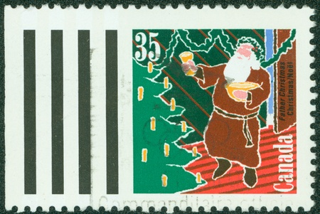 CANADA - CIRCA 1991  stamp printed by Canada, shows Santa Claus, circa 1991 photo