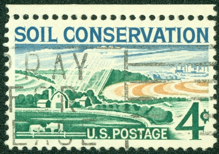 UNITED STATES OF AMERICA - CIRCA 1959  stamp printed in USA, shows Soil Conservation, farm, circa 1959 photo
