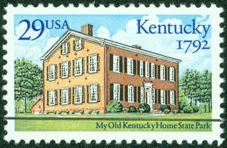 USA - CIRCA 1992  A stamp printed in USA shows Kentucky Home State Park, Statehood Bicentennial, circa 1992 photo